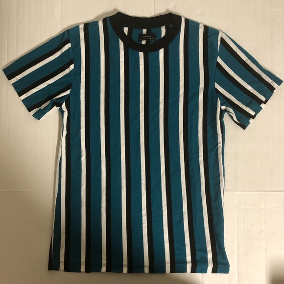 Zara men printed vertical striped T shirt